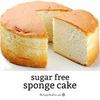 How to make YUMMY and Easy Sugar Free Sponge Cake - Low Carb Keto - I am so happy that there is a way to make Sugar Free Sponge Cake This is because sponge cake is one - Sugar Free Deserts, Sugar Free Recipes, Dessert Bars, Dessert Recipes, Diabetic Desserts, Low Carb Desserts, Diabetic Recipes, Diabetic Foods, Pre Diabetic