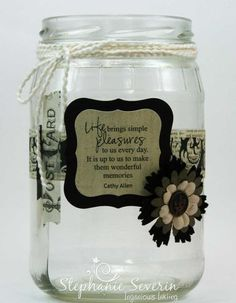 This Memory Jar is an awesome closure activity for those grieving the loss of a loved one. They can remember all of their favorite memories, write them down, and bury them in this memory jar to signify the letting go of their loved one. 90th Birthday Parties, Graduation Parties, Graduation Decorations, Graduation Ideas, Graduation Gifts, Graduation Quotes, Birthday Ideas, Mason Jar Crafts, Mason Jars