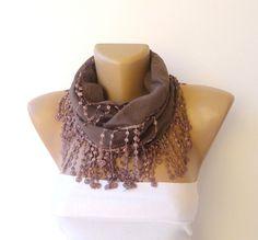 fringe handmade scarf women fashion scarves cotton by scarvesCHIC, $12.90