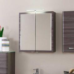 3D Spiegelschrank in Weiß LED Aufbauleuchte Jetzt bestellen unter ...