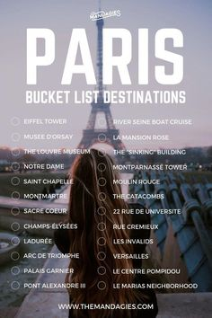Save this pin for travel inspiration later, and click… Paris, France Bucket List. Save this pin for travel inspiration later, and click the link for more European travel tips! Divergent Travelers Liked Travel Pins Travel Checklist, Travel List, Travel Guides, Travel Goals, Travel Info, Travel Hacks, Travel Bucket Lists, Travel Expert, Baby Travel