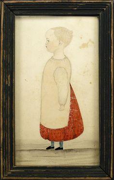 Antique Painting Of Boston Coast Line 1700s Folk Art