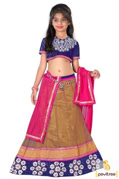 Get a winning look a camel color net navratri lehenga for kids collection. It is perfect for every occasion and school function. This choli is decked with lace. #kidgirllehengacholi, #babychaniyacholi, #babynavratrichaniyacholi, #babyghaghracholi, #girllehengastyle, #discountoffer, #pavitraafashion, #utsavfashion, #kidswearshopping, #kidlehengacollection http://www.pavitraa.in/store/kids/ callus:+91-7698234040