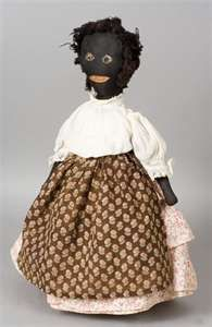 Early 20th Century Primitive Black Rag Doll -