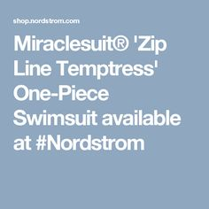Miraclesuit® 'Zip Line Temptress' One-Piece Swimsuit available at #Nordstrom