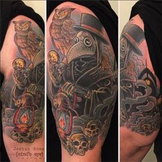 Neo traditional tattoo by Joshua Ross.