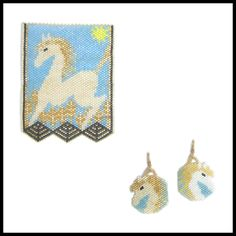 Sunswept Pendant and Earrings | Bead-Patterns.com