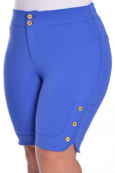 Bermuda Morian Blue - VK Moda Plus Size
