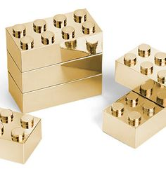 The one piece missing from your Lego collection is 24 karat gold bricks. Compatible with all other Lego pieces this set of 8 gold Lego bricks is perfect.