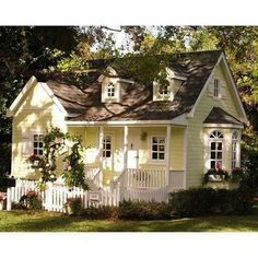 My dream home. No joke. Yellow cottage!