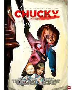 Horror Icons, Horror Movie Posters, Horror Films, Horror Art, Scary Movies, Great Movies, Child's Play Movie, Childs Play Chucky, Movie Covers