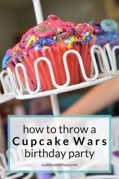 how to throw a Cupcake Wars birthday party for kids cupcakes decoration hochzeit ideas ideen recipes rezepte cupcakes cupcakes cupcakes Baking Birthday Parties, Birthday Party For Teens, Baking Party, 11th Birthday, Birthday Party Themes, Birthday Ideas, Teen Parties, Girl Birthday, Birthday Activities