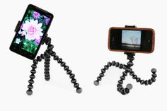 Gorillapod GripTight PhoneCam ClampStand - The bendy sturdy Gorillapod tripod and your phone, together at last! ($30.00, http://photojojo.com/store)
