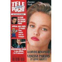 Vanessa Paradis et Lenny Kravitz : la divine rencontre, dans Télé Poche n°1401 du 14/12/1992 [couverture isolée et article mis en vente par Presse-Mémoire]