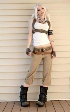 steampunk look, harness
