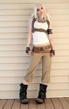 steampunk look, harness
