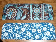 DIY Vera Bradley look-alike: Quilted Flat Iron or Curling Iron Cover Tutorial