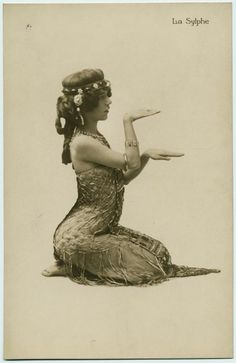 "Edythe Lambelle, aka ""La Sylphe"" La Sylphe was an exotic American dancer who became a sensation while performing at the Folies Bergere in the 1890s"