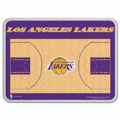 """Los Angeles Lakers 11 x 15 Glass Cutting Board by WinCraft. $29.99. Officially licensed by the NBA. Top-Quality, manufactured by Wincraft. Officially licensed by the Los Angeles Lakers. Please Note: This item is made-upon-order, therefore requires additional processing time, which is reflected in the estimate above. This 0.25"""" thick tempered glass cutting board has a durable water resistant teslin graphic laminated to the back with four plastic rubber legs. While it is dishwa..."""