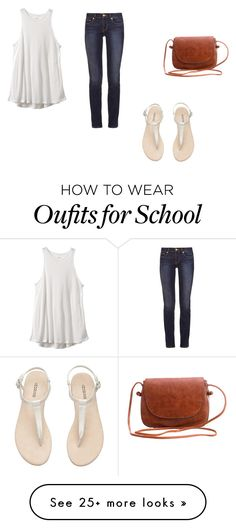 """""""back to school"""" by marissamea22 on Polyvore featuring RVCA and Tory Burch"""