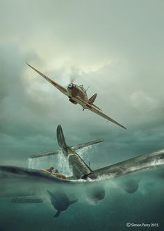 16th July - Ju88A-1 B3+GP of 6/KG54 was chased from Southampton and shot down by three Hurricanes of Blue Section of 601Sqn (F/O Rhodes-Moorhouse, F/O Hubbard and P/O Grier) in combat over the channel off St. Catherines Point, IOW at 17:00hrs. Ff: Fw Rudolf Fortmann and Bm: Gefr H Augustin captured. Two other crew missing.