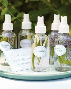 Refresh with All-Natural DIY Mists A refreshing spritz of fragrant water is a great way to keep cool in summer. To create sprays, simply fill mist bottles with water and a few strips of julienned cucumber or sprigs of lavender and mint.