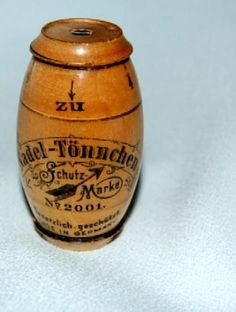 antique needle case | Antique 1890's Wooden Barrel Shaped Needle Case from hillandhill on ...
