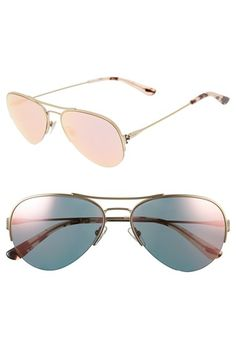 Tory Burch 55mm Aviator Sunglasses available at #Nordstrom