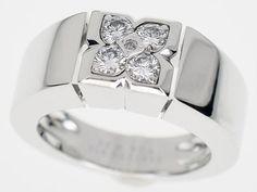 Van Cleef&Arpels J Ring Diamond 750 K18 White Gold Size6.5-7 28460605 #VanCleefArpels #JRing