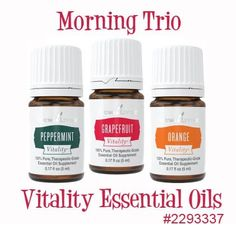 morning trio for weight loss young living essential oils #weightlossbeforeandafter