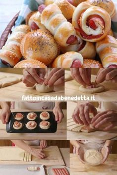 Benedetta's panbrioche yoghurt buffet mix, 3 step-by-step recipes for delicious savory snacks with frankfurters, spreadable cheese and speck, ham and provola cheese. Antipasto, Rustic Buffet, Bread Shaping, Sports Food, Savory Snacks, Yummy Appetizers, Love Food, Tapas, Food And Drink