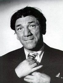 Shemp Howard - best known as one of the stooges. While originally in a vaudeville act with his brother Moe and Larry Fine, he wound up doing other movies and his youngest brother Curly joined the stooge act, which Shemp rejoined after Curly's death. Shemp died on Nov 23, 1955 at the age of 60.