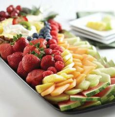 Leave the chopping to the Hy-Vee Catering Department. Order the Signature Fantastic Fruit Platter for your graduation party. Fresh fruits and berries are paired with delicious fruit dip.