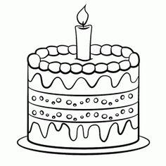 taart kleurplaat met 5 6 kaarsen zoeken jarig