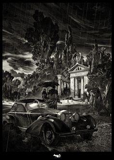 Nicolas Delort – Thomas and Martha Wayne Screen Prints – One Year of Batman Regular edition