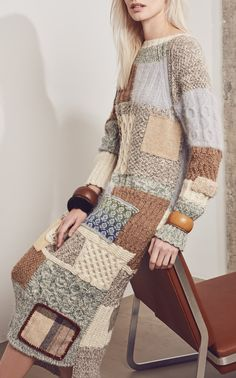 Tuinch Patchwork Knit Dress