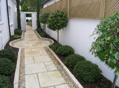 Amazing Ideas for Small Backyard Landscaping - My Backyard ideas Front Garden Path, Garden Paths, Front Garden Entrance, Side Walkway, Entrance Ideas, Entrance Design, Small Gardens, Outdoor Gardens, Plants That Like Shade