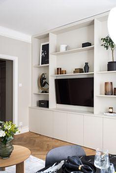 Home Room Design, Home Office Design, House Design, Paris Living Rooms, Home Living Room, Casa Milano, Home Interior, Interior Design, Living Room Wall Units