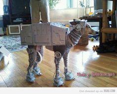 disfraz perro star wars guerra de las galaxias atat