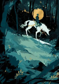 Eli B's Art.... Ride a white wolf & carry a large spear