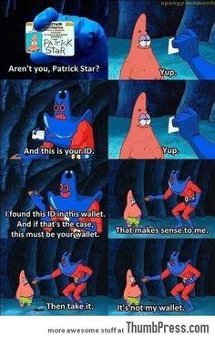 haha patrick!!