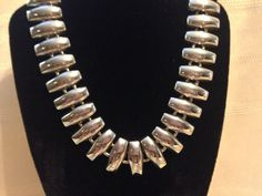 Silver Collar Necklace by GENEVEVES on Etsy