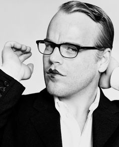 Good work is the only thing that would make me feel jealous or envious. - Philip Seymour Hoffman. - photo by Herb Ritts
