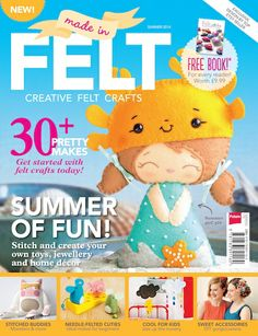 The fabulous new issue of Made in Felt! Issue 2 is packed with gorgeous photography and step-by-step guides to stitched felties, needle felting, home decor and crafts for kids. 130 pages of pure inspiration for felt addicts - only £7.99. Click on through to order online or look out for it at local newsagents.