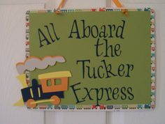 Train Birthday Party -  All Aboard Train Party Decorations on Etsy, $12.00