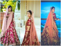 Love this pink bridal lehenga with contrast dupatta. #Frugal2Fab