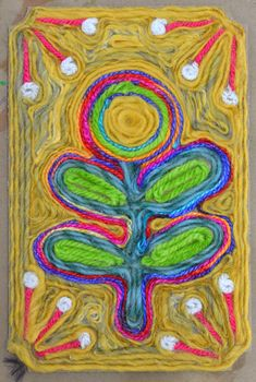 Yarn Paintings 2019 Yarn Painting: yarn art for kids inspired by the Huichol Yarn Paintings / Art projects for kids / art lessons/ art classroom The post Yarn Paintings 2019 appeared first on Yarn ideas. Mexican Crafts, Mexican Art, Art Lessons For Kids, Art For Kids, Yarn Painting, Painting Videos, Painting Art, Ecole Art, Sewing Art