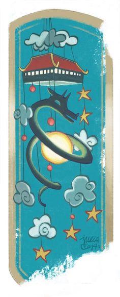 dragon ball bookmark by Julia Cejas