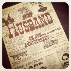 Vintage Old Timey Gentleman Anniversary Card for Husband (Boston Bag Lady)