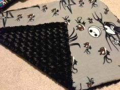 Handmade Baby Blanket Nightmare Before Christmas by InvisibleSeams, $24.00